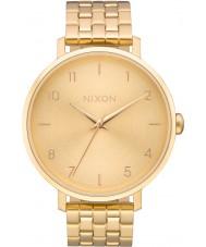 Nixon A1090-502 Bayanlar tüm altın çelik bilezik saatini ok