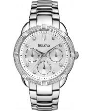 Bulova 96R195 Bayanlar elmas gümüş çelik bilezik kronograf izle