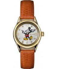 Disney by Ingersoll ID00901 Bayanlar sendika kahverengi deri kayış izle