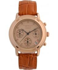 Krug-Baumen 150575DL İlke elmas bayanlar altın kronograf saati gül