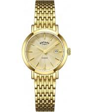 Rotary LB05303-03 Bayanlar saatler windsor altın saatini kaplama
