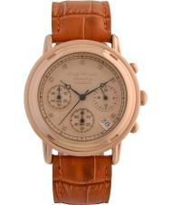 Krug-Baumen 150575DM İlke elmas erkek altın kronograf saati gül