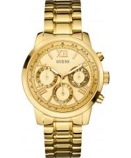 Guess W0330L1 Bayanlar altın bilezik saatini kaplama şafağa