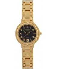 Krug-Baumen 5118DL Charleston 4 elmas siyah kadran altın kayış