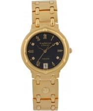 Krug-Baumen 5118DM Charleston 4 elmas siyah kadran altın kayış