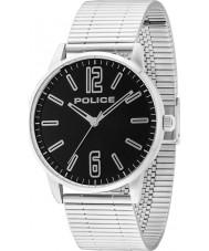 Police 14765JS-02M Erkek gümüş çelik bilezik saatini esquire
