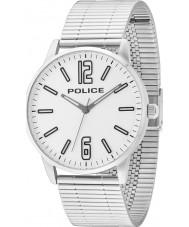 Police 14765JS-04M Erkek gümüş çelik bilezik saatini esquire