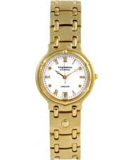 Krug-Baumen 5116DM Charleston 4 elmas beyaz kadran altın kayış