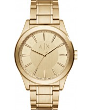 Armani Exchange AX2321 Erkek elbise altın bilezik saatini kaplama