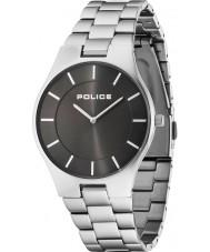 Police 14640MS-61M Erkek görkemi gümüş çelik bilezik izle