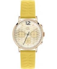 Orla Kiely OK2004 Bayanlar frankie kronograf sarı deri kayış izle