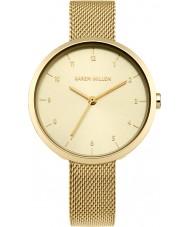 Karen Millen KM135GM Bayanlar altın bilezik saatini kaplama