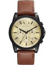 Armani Exchange AX2511 Mens Outerbanks koyu kahverengi kronograf izle