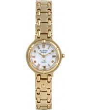 Krug-Baumen 5116DL Charleston 4 elmas beyaz kadran altın kayış