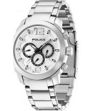 Police 13934JS-04M Erkek gümüş çelik izlemek zafer