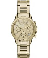 Armani Exchange AX4327 Bayanlar altın kronograf saati kaplama elbise