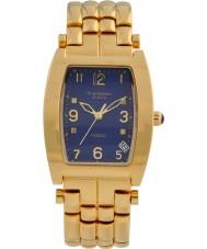 Krug-Baumen 1964DMG Smokin altın 4 elmas mavi kadran altın kayış